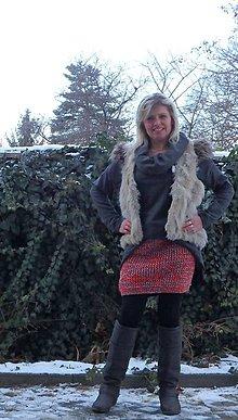 Sukne - pletená sukně 1 - 7770999_