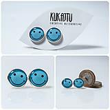Náušnice - BLUE SMILE :-) - 7770781_