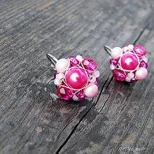 Náušnice - Náušničky MINI Pink...CH.OCEL - 7769504_