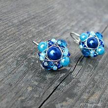 Náušnice - Náušničky MINI Blue...CH.OCEL - 7769544_