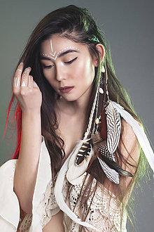 Ozdoby do vlasov - Prírodný bohémsky hair clip - 7772957_