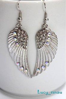 Náušnice - Anjelské krídla strieborno-perleťové:) - 7771422_