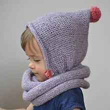 Detské čiapky - Čapkapuca...levanduľová - 7768987_