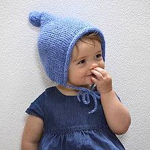 Detské čiapky - Čapkapuca...belasá - 7769014_