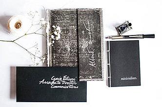 Papiernictvo - minimalism. Notes-Black / A6 - 7769594_