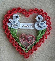Drobnosti - Valentínske srdiečko - Ľúbim Ťa - 7772316_