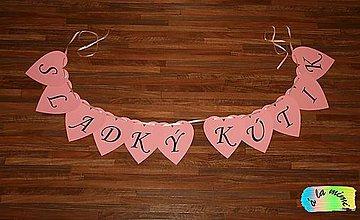 Tabuľky - Girlanda Sladký kútik - 7775969_