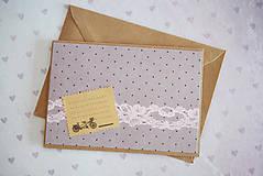 Papiernictvo - Scrapbook pohľadnica svadba/narodeniny - 7776427_