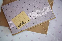 Papiernictvo - Scrapbook pohľadnica svadba/narodeniny - 7776428_