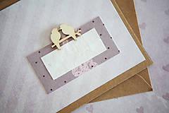Papiernictvo - Pohľadnica - svadba/narodeniny - 7776469_