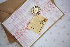 Papiernictvo - Scrapbook pohľadnica - ružová - 7776489_