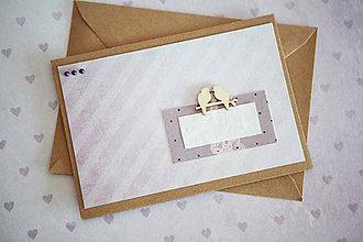 Papiernictvo - Pohľadnica - svadba/narodeniny - 7776471_