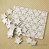 - Výrez Hviezda z oblohy - hviezdy stredné, 20ks - 7773183_