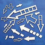 - Výrez Malé Elementy - šípky, veľký set, 23ks - 7776846_