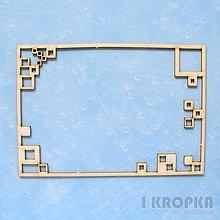 Polotovary - Výrez Rámik - obdĺžnikový rámik štvorce - 7777272_
