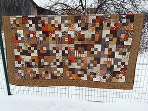 Úžitkový textil - Hnedá deka - 7776818_
