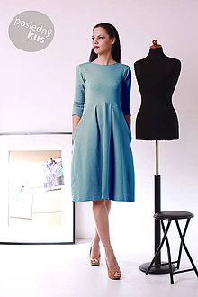 Šaty - MIESTNe klasik šaty (teal) - 7774099_