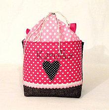 Detské tašky - Košík / taška na bicykel - BikeBag ružové srdce - 7773969_