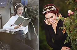 Ozdoby do vlasov - Jemná kvetinová čelenka v červenom - 7778092_