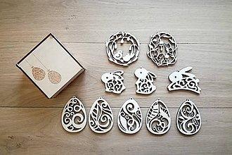 Polotovary - Veľkonočné dekorácie v praktickej krabičke - 7774914_