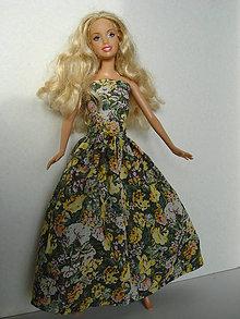 Hračky - Barbie - kvetinové romantické šaty - 7778146_