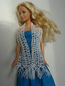 Hračky - Barbie - pavučinkový šál - 7778205_