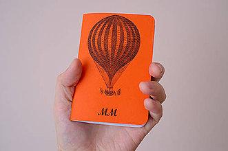 Papiernictvo - Zápisník pre objaviteľov - Balón - 7776481_