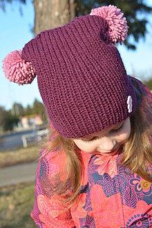Detské čiapky - Detská čiapka dvojbrmbolcová :-) - 7778408_