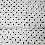 - bielo-čierne bodky, 100 % bavlna, šírka 140 cm, cena za 0,5 m - 7774777_