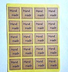 Papier - Samolepky Handmade ------20 ks - 7778227_
