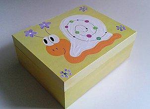 Krabičky - slimáčiková krabica - 7773852_