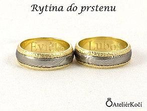 Prstene - Rytí do prstýnků - 7773752_