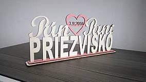 Darčeky pre svadobčanov - Pán a Pani - 7778513_