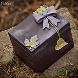 Krabičky - Moje tajomstvá - krabička na darček/šperkovnica - 7776505_