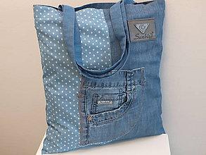 Nákupné tašky - ...riflová... - 7775959_