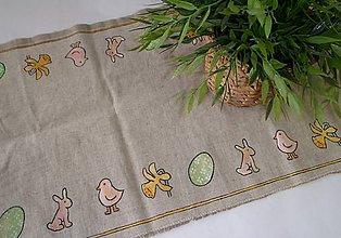 Úžitkový textil - jarný obrus maľovaný - 7775225_