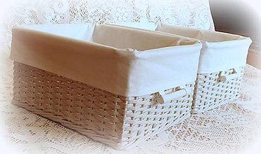 Košíky - Košík - v bielom šate - 7776085_