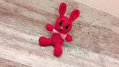 Hračky - malý zajko červenučký - 7777617_