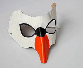 Ozdoby do vlasov - Kožená maska labuť - 7773923_