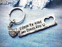Kľúčenky - Ľúbim Ťa viac ako ČOKOLÁDU :) Cena je za 1ks - 7783622_