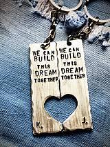 Kľúčenky - Môžeme spoločne budovať tento sen :) - 7783629_