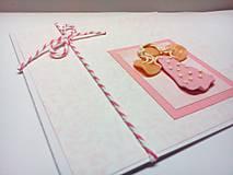 Papiernictvo - Pohľadnica k narodeniu dievčatka - 7782242_
