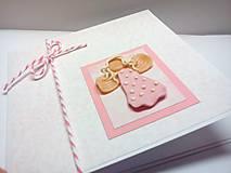 Papiernictvo - Pohľadnica k narodeniu dievčatka - 7782246_