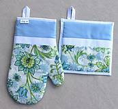Úžitkový textil - set rukavica+chňapka Jar - 7783079_