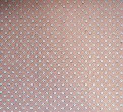 Textil - Filc s potlačou - 20x30 cm, hrúbka 1 mm - bodkovaný, marhuľový - 7780529_