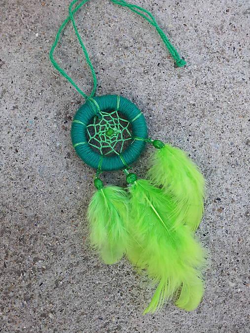 Lapač snov - zelený