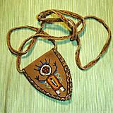 Náhrdelníky - Ethno amulet bag - 7783239_