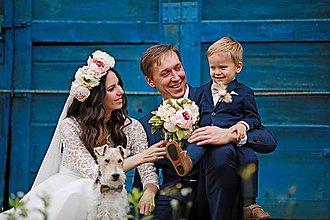 Kytice pre nevestu - luxusná svadobná kytica - 7778937_