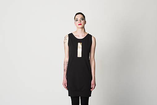 Šaty - Šaty Gold Stripe - 7779446_