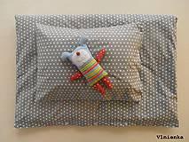 Textil - WHITE and GREY návliečky na posteľ bavlna Hviezdička sivá a biela - 7779759_